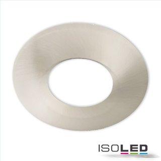 Cover Aluminium rund/Kante nickel gebürstet für Einbaustrahler Sys-68