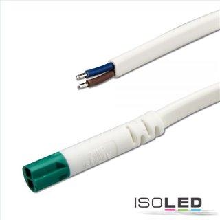 Mini-Plug Anschlusskabel male, 1m, 2x0.75, IP54, weiß-grün, max. 48V