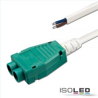 Mini-Plug 2-fach Verteiler female, 1m, 2x0.75, IP54, weiß-grün, max. 48V