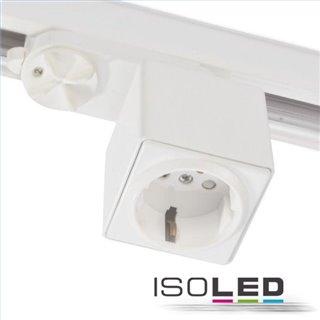 3-Phasen Adapter mit Schutzkontaktstecker, weiß, inkl. 6A Sicherung