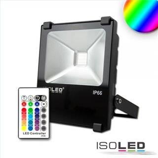 LED Fluter 10W, RGB, IP66, inkl. Funk-Fernbedienung