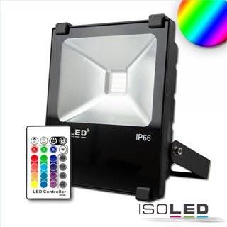 LED Fluter 30W, RGB, IP66, inkl. Funk-Fernbedienung
