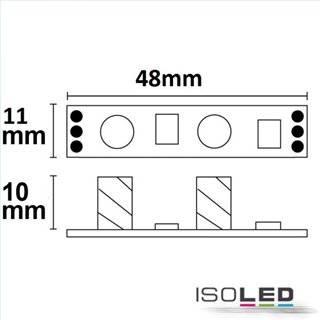 LED Mini PWM-Controller weißdynamisch zum Einbau unter Profilcover, 1 Kanal, 12-24V DC 2x3A
