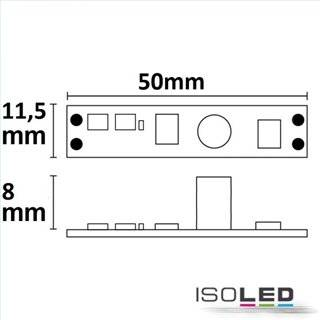 LED Mini PWM-Controller mit Wisch-Sensor für Profile, 1 Kanal, 12-24V DC 3A