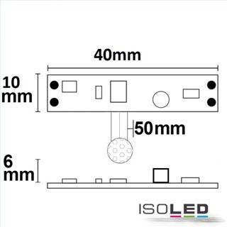 LED Mini-Switch PIR Bewegungssensor mit StandBy-Level, 12-24V DC 3A