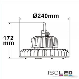LED Hallenleuchte FL 120W, IP65 neutralweiß, 60°, 1-10V dimmbar