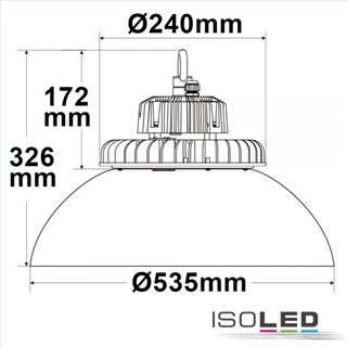 LED Hallenleuchte FL 120W, Alu-Reflektor IP65 neutralweiß, 80°, 1-10V dimmbar