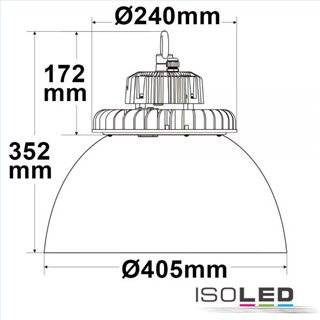 LED Hallenleuchte FL 120W, PC-Reflektor IP65 kaltweiß, 70°, 1-10V dimmbar