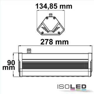 LED Hallenleuchte LN 50W 60°, IP65, 1-10V dimmbar, neutralweiß