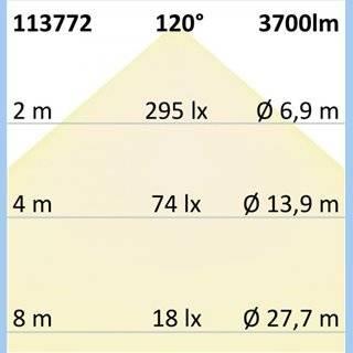 LED Deckenleuchte, DM 60cm, weiß, 52W, ColorSwitch 3000|3500|4000K, dimmbar