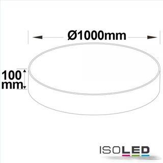 LED Deckenleuchte, DM 100cm, weiß, 160W, ColorSwitch 3000|3500|4000K, dimmbar