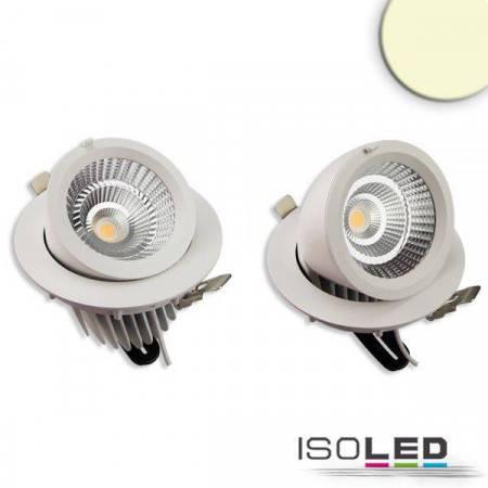 LED Shop-Downlight Sphere, 35W, ausschwenkbar, weiß, warmweiß