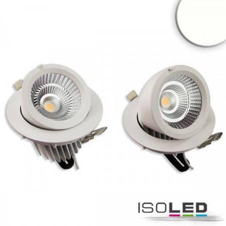LED Shop-Downlight Sphere, 35W, ausschwenkbar, weiß, neutralweiß