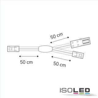 Mini AMP Linearsplitter 2 x male-Stecker / 1 x female-Buchse