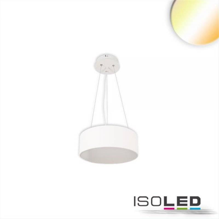 LED Hängeleuchte, DM 40cm, weiß, 28W, ColorSwitch 3000|3500|4000K, dimmbar