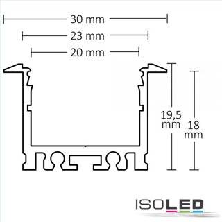 LED Einbauprofil IL-ALU20 eloxiert, 200cm