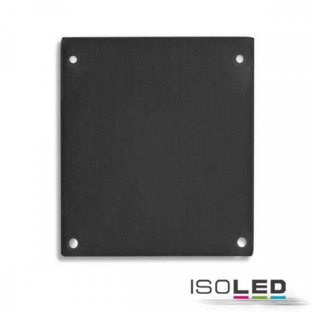 Endkappe E69 Alu schwarz für LAMP30, 2 STK, inkl. Schrauben