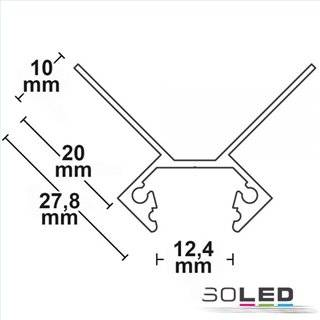 LED Fliesenprofil Ausseneck, 250cm