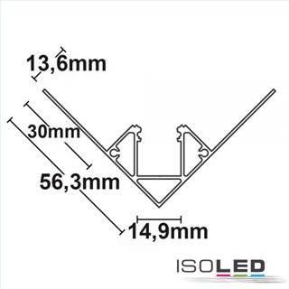 LED Trockenbauprofil Inneneck, 200cm