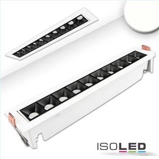 LED Einbauleuchte Raster Line weiß/schwarz, 20W, neutralweiß, schwenkbar