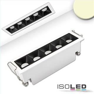 LED Einbauleuchte Raster Line weiß/schwarz, dimmbar, 10W, warmweiß