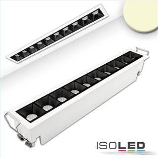 LED Einbauleuchte Raster Line weiß/schwarz , dimmbar, 20W, warmweiß
