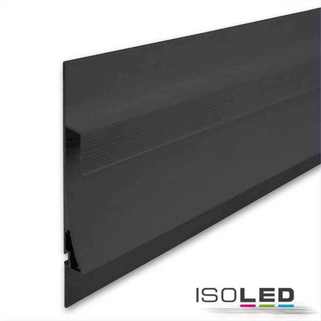 LED Trockenbauleuchte Single Curve, schwarz eloxiert 200cm