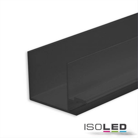 LED Trockenbauprofil Schattenfuge 8, schwarz eloxiert RAL 9005 200cm