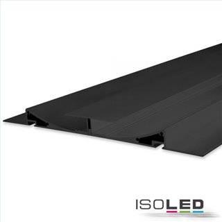 LED Trockenbauleuchte Double Curve, schwarz eloxiert RAL 9005 200cm