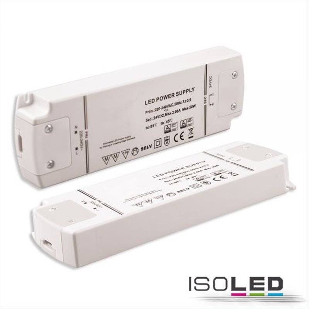 LED Trafo 24V/DC, 0-50W, dimmbar (Spannungssenke), SELV
