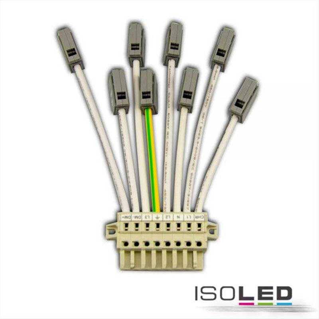 FastFix LED Linearsystem Einspeiseadapter 8-polig, 15A
