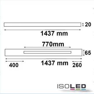 FastFix LED Linearsystem S 1.5m Balken mit 70cm 3PH Stromschiene