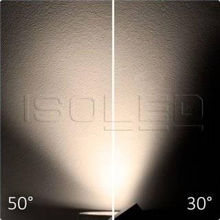 3-PH Schienen-Strahler fokussierbar, 30W, 30°-50°, weiß matt, warmweiß, dimmbar