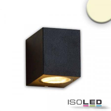 Wandleuchte 1xGU10, IP54, sandschwarz, exkl. Leuchtmittel