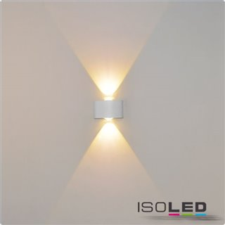 LED Wandleuchte Up&Down 2*2W CREE, IP54, sandschwarz, warmweiß