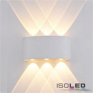 LED Wandleuchte Up&Down 6*1W CREE, IP54, sandweiß, warmweiß