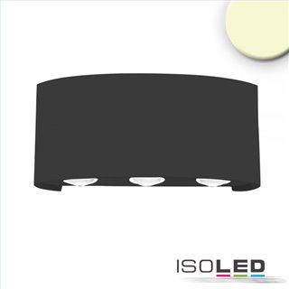 LED Wandleuchte Up&Down 6*1W CREE, IP54, sandschwarz, warmweiß
