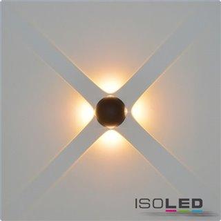 LED Wandleuchte Up&Down 4*1W CREE, IP54, sandschwarz, warmweiß