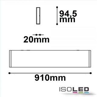 LED Wandleuchte Linear Up+Down 900 30W, IP40, schwarz, warmweiß