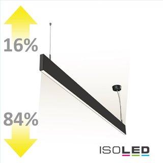 LED Hängeleuchte Linear Up+Down 600, 25W, prismatisch, linear-verbindbar, schwarz, warmweiß