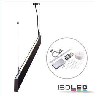 LED Hängeleuchte Linear Up+Down 1200, 40W, prismatisch, linear-verbindbar, schwarz, warmweiß