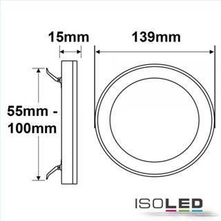 LED Aufbau/Einbauleuchte Slim Flex, 6W, schwarz, ColorSwitch 3000K|3500K|4000K