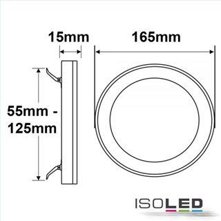 LED Aufbau/Einbauleuchte Slim Flex, 12W, weiß, ColorSwitch 3000K|3500K|4000K