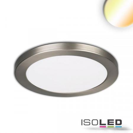 LED Aufbau/Einbauleuchte Slim Flex, 12W, nickel gebürstet, ColorSwitch 3000K|3500K|4000K