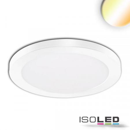 LED Aufbau/Einbauleuchte Slim Flex, 18W, weiß, ColorSwitch 3000K|3500K|4000K