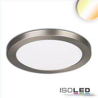 LED Aufbau/Einbauleuchte Slim Flex, 18W, nickel gebürstet, ColorSwitch 3000K|3500K|4000K