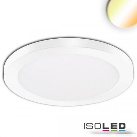 LED Aufbau/Einbauleuchte Slim Flex, 24W, weiß, ColorSwitch 3000K 3500K 4000K
