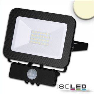 LED Fluter mit PIR-Bewegungssensor 30W, warmweiß, schwarz, IP65