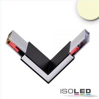Eckverbinder 90° für Hängeleuchte Linear Up+Down, 3W, schwarz, warmweiß