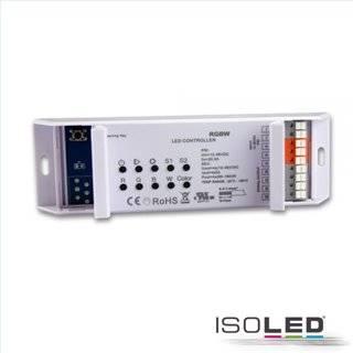 RGB+W PWM-Controller mit Nah- u. Fernbedienung, 2 Szenen-Speicher, 4 Kanal, 12-36V, 4x5A
